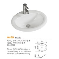 China Oval above Counter Basins, Top Counter Basins, Ceramic Sinks Manufacturers & Suppliers