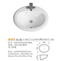Oval above Counter Basins Manufacturers, China Counter Top Basins Suppliers