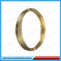 Golden Braided Car Window Glass Removal Steel Wire