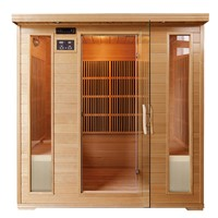 Far Infrared Cabon Heater 4 Person Sauna Cabin with Low EMF
