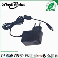 CE ROHS Listed Wall Mount Type EU Plug 15v 1a AC DC Adapter