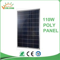 HOT SALE! 110W Poly Solar Panel with CE TUV EL Test for Solar System