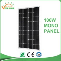 TUV Approved Cheap High Efficiency 100W Mono Solar Panel PV Module