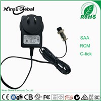SAA C-TICK RCM Approval Australia Plug AC to DC Power Adapter 12V 2A