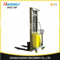 Factory Price Hydraulic Forklifts Double Mast 3000mm 1000kg Semi Electric Stacker Price