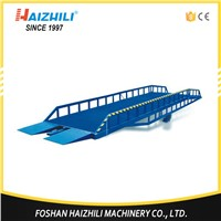 Material Handing Equipment 10 Ton Mobile Hydraulic Loading Ramp for Forklift