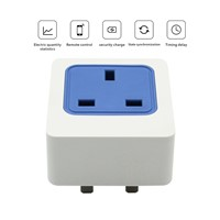 Wireless Remote Control Electrical Outlet Switch for Household Appliances, Blue UK Smart Plug