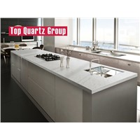 Medium Grained Quartz Stone Kitchen Island Tops, Artificial Quartz Stone Countertops