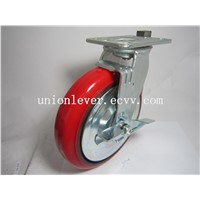 8 Inch Heavy Duty Red Polyurethane Caster Load 400kg