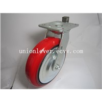 8 Inch Plate Type Polyurethane Swivel Caster Load 400kg