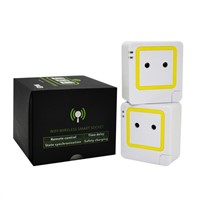 WiFi Smart Socket Outlet EU Plug, Work with Phone, iPad, Android
