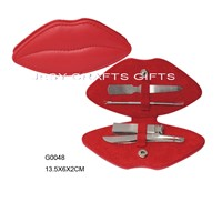 New Arrival Red Lip Manicure Set(G0048)