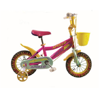 Quick Release Easy Assebling 12 Inch Children Bikes, Color Wheel Baby Bikes for 3-5 Years Old Child