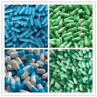 Wholesale Empty Gelatin Capsules Cold Color All Sizes