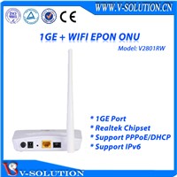 EPON 1GE WiFi ONU with Route Function Support IEEE802.11b/g/n 300Mbps