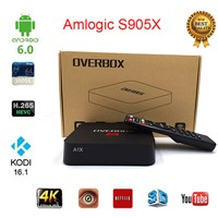 2016 Mini Overbox A3X Android TV Box Amlogic S905X Quad-Core 64-Bit Android 6.0 Cute