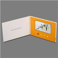 "Hot Sale 5"" USB Video Brochure, Video LCD Postcard, Video Brochure Module"