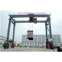 Rubber Tyre Gantry Crane for Sale, Electric Mobile Harbour Crane