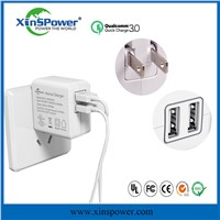 US Plug 5V 3.4A Cheap Double Phone Charger USB Charger for Cell Phone