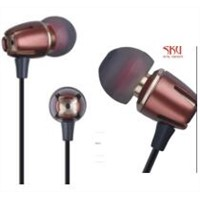 Wired Metal Earphones with Mic