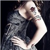 Large Red Flower Tattoo Sticker Arm Sex Temporary Tattoo Stickers for Women Waterproof Sticker