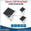 Ip65 Square Outdoor Building Decoration Stadium DC24V Dmx Landscape Lighting LED RGBW Floodlight 24W 36W 64W