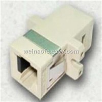 Fiber Adapter MTRJ-MTRJ Beige Plastic Housing