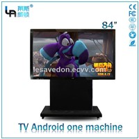 LASVD 84 Inch Freestanding Infrared IPS Touch Screen Android All In One Computer