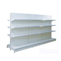 Supermarket Racks Gondola Shelving with Flat Back Panel Epoxy Finish