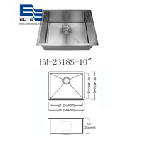 China 304 Stainless Steel Undermount Sink Single Bowl