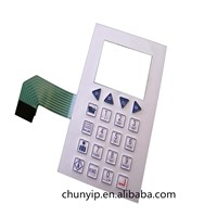 5*4 Push Buttons China Membrane Switch with Transparent Window