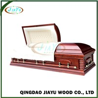 Graceful Made in China US Style Wholesale Adult Casket with Bed & Cloth