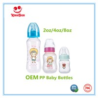 Regular Neck PP Milk Bottles for Newborn Babies in Arc Shape