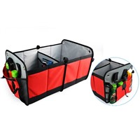 Two Sections Durable Waterproof Fabric Car Boot Organizer / Car Trunk Organizer with PE Board
