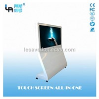 LASVD 55 '' Freestanding Touch Screen All-In-One PC Curved Digital Mall Advertising Kiosk