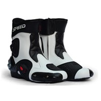 Mens Leather Racing Boots Motorcycle, Motorcyle Shoes
