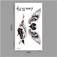 Bird Wings Flash Tattoo Hand Sticker 10.5*6cm Small Waterproof Henna Beauty Temporary Body Tattoo Sticker