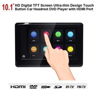 Touch Screen 10.1 Inch HD TFT LCD Headrest Car DVD Player