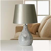 Glass Decor Table Lamp Desk Lamp Modern Cloth Shade
