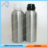 Hot Sale 1000ml Cosmetics Tamper Evident Cap Essential Oil Aluminum Bottles