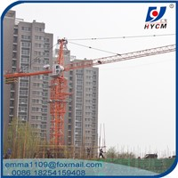 QTZ63 most Popular Hammer Head Tower Crane 50m Jib
