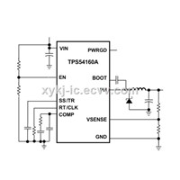 TPS54160DGQR TI(3.5V to 60V Input, 1.5A Step-Down Converter with Eco-Mode)
