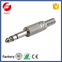 FenFei Nickel Plated 6.35mm Stereo Plug Metal with Spring
