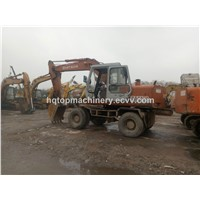 Used Japan Wheel Excavator, Japanese Hitachi EX100 EX100-1 EX160-1 Wheel Excavator Digger
