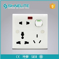 Bangladesh ABS 8pin Multi Socket 13A 250V Swith Socket With Light Switch Socket