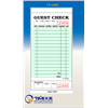 CT-G3632 1 Part Green & White Guest Check with Bottom Guest Receipt - 50/Case
