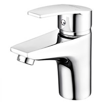 Deck Mounted Single Handle Single Hole Bathroom Basin Mixer Faucet