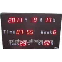 Ganxin LED Calendar with Temperature & Humidity