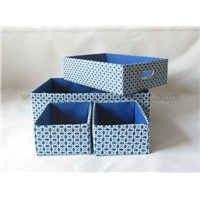 Rectangular Colorful Cloth Art Box with Handle