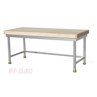 Stainless Steel Kitchen Working Table with Wooden Top